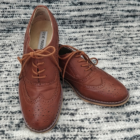 adf55f9cb1b Steve Madden Leather Brogues